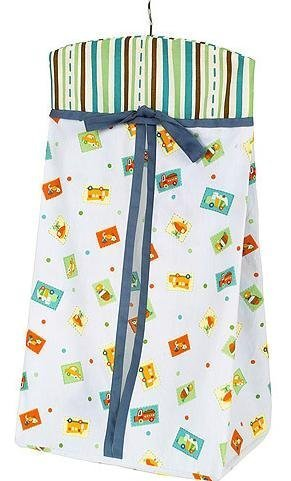 Sumersault - Zoom Diaper Stacker with Various Vehicles and Striped Top (Blue Background) - 1