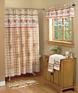 Com Country Heart Hearts And Stars Shower Curtain Rustic Cabin Decor