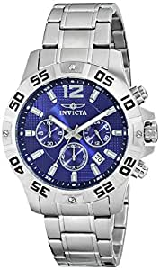 Invicta Men's 1502 Chronograph Blue Dial Stainless-Steel Watch