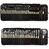 AiSi Luxury 32 PCS Professional Makeup Brushes Tools Sets / Kits Natural Cosmetic Animal Hair Brushes With Pouch... - B01AOPP8PM