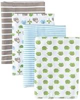 Gerber Baby-Boys Newborn 4 Pack Flannel Burp Cloths - Gorilla