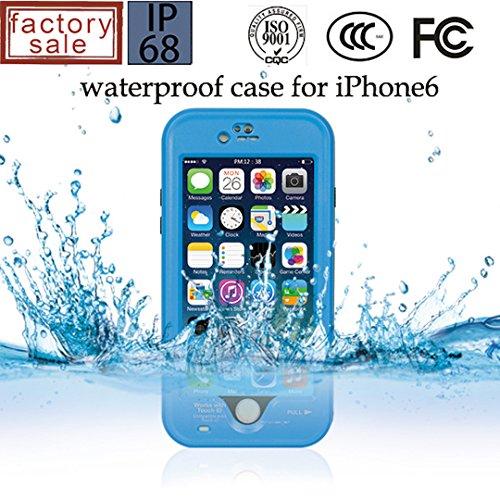 iPhone 6 6S 完全防水 防塵 耐衝撃 ケース 海 防水 カバー アイフォン 衝撃吸収 iPhone6 iPhone6S プロテクター 【全7色】 (ブルー) [並行輸入品]