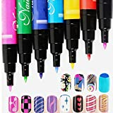Set of 12Pcs Nail Art Polish Pen for UV Gel Nail Varnish Painting Detailing Drawing Dotting DIY Tool Kit - Best Reviews Guide