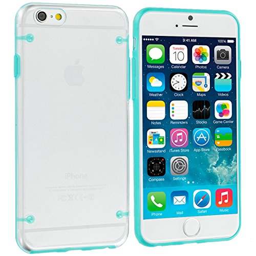 Cell Accessories For Less (Tm) Baby Blue Crystal Robot Hard Case Cover For Apple Iphone 6 (4.7) + Bundle (Stylus & Micro Cleaning Cloth) - By Thetargetbuys front-674470