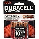 Duracell Quantum AA 1.5V Alkaline Batteries - 6-Pack Retail Card