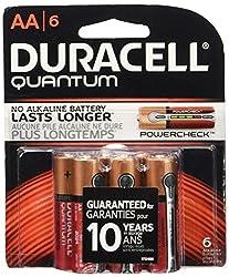 Duracell Quantum AA 1.5V Alkaline Batteries - 6-Pack Retail Card