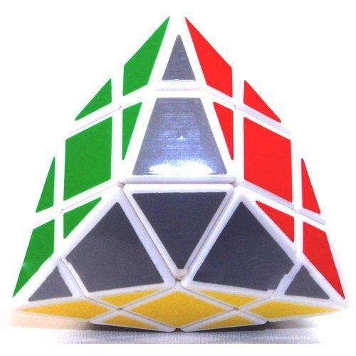 Diansheng White 3x3x3 Shape Mod Quadrangular Twisty Puzzle - 1