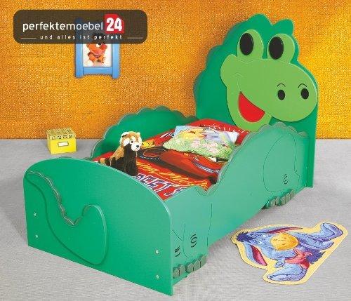 DINO Bett Kinderbett Spielbett inkl. Lattenrost und Matratze kurze Lieferzeit! (groß(205 cm x 120 cm x 97 cm)) günstig bestellen