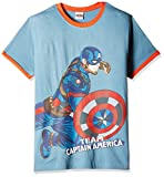Marvel Boys' T-Shirt (ACVSO-04_ Blue and Grey_11 - 12 Years)