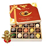 Chocholik Belgium Chocolates - Sweet Treat Of 20pc Truffle Box With Ganesha Idol - Diwali Gifts