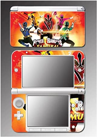 Mighty Morphin Power Rangers MMPR Super Samurai Video Game Vinyl Decal Cover Skin Protector 4 Nintendo 3DS XL