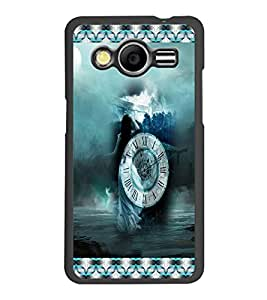 PrintDhaba Time D-3037 Back Case Cover for SAMSUNG GALAXY CORE 2 G355H (Multi-Coloured)