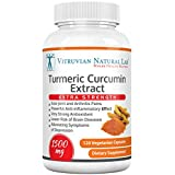 Turmeric Curcumin Extra Strength - 1500mg/serving for Joint & Arthritis Pain Relief -120 Capsules (Veggie) -100% Natural - Strongest Available in the Market - Made in USA