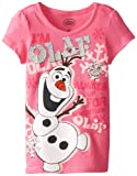 Disney Little Girls' Frozen Olaf Short Sleeve Tee Shirt Shirt
