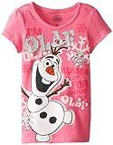 Disney Little Girls' Frozen Olaf Short Sleeve Tee Shirt Shirt