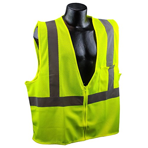 Full Source Class 2 Mesh Safety Vest - Yellow/Lime - 3XL