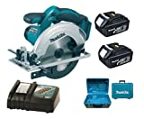 Makita 18V LXT BSS611 BSS611Z BSS611Rfe Circular Saw, 2 X BL1830 Batteries, DC18RC Charger And Case