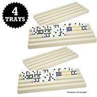 Set of Four Plastic Domino Trays by B…