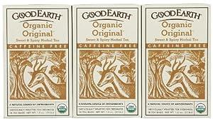 Good Earth Organic Original Sweet Spicy Tea Caffeine Free Herbal 18 Ct 3 Pk by KEHE - Romeoville, IL