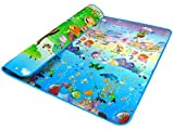 niceEshopTM Baby Crawling Game Mat Baby Gym Playmats Both Sides Multicolor