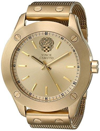 Vince Camuto para mujer reloj infantil de cuarzo con esfera analógica blanca y dorado correa de acero inoxidable de VC-5224CHGB