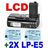 LCD TIMER BATTERY GRIP fr CANON 450D 500D 1000D+2 LP-E5by Neewer