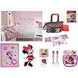 13-pieces Deluxe Disney Minnie Mouse Crib Bedding Set