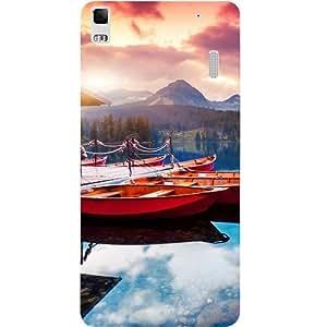 Casotec Sunset Sea Design Hard Back Case Cover for Lenovo A7000