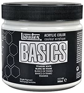 buy liquitex basics acrylic paint 946 ml titanium white