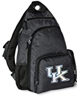 University of Kentucky Sling Backpack UK Wildcats Logo Gray One Strap Backpacks by Broad Bay