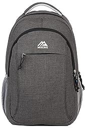 Mozone Casual Lightweight Water Resistant College School Laptop Backpack Travel Bag (Dark Grey)