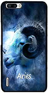 PrintVisa Zodiac Aries Case Cover for Huawei Honor 6 Plus