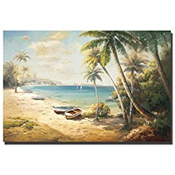 Paradise Bay by Roberto Lombardi Premium Gallery-Wrapped Canvas Giclee Art (Ready to Hang)