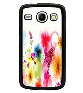 PrintDhaba Coloured Flower D-2190 Back Case Cover for SAMSUNG GALAXY CORE i8262 (Multi-Coloured)