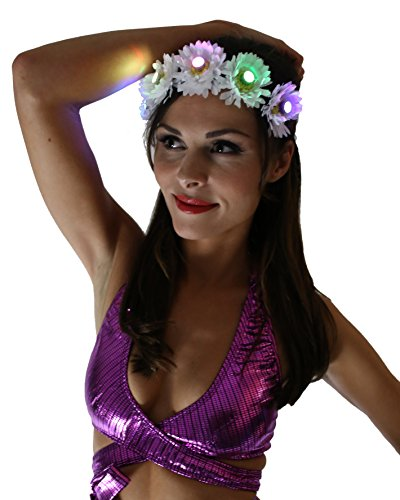 Light Up LED Flower Crown (EDC) (White)