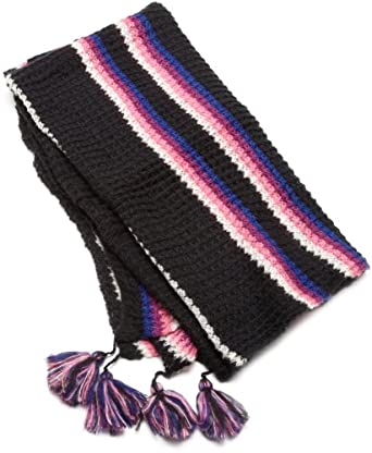 Collection XIIX Women's Sunrise Stripe Square Scarf, Highlighter Pink, X-Large