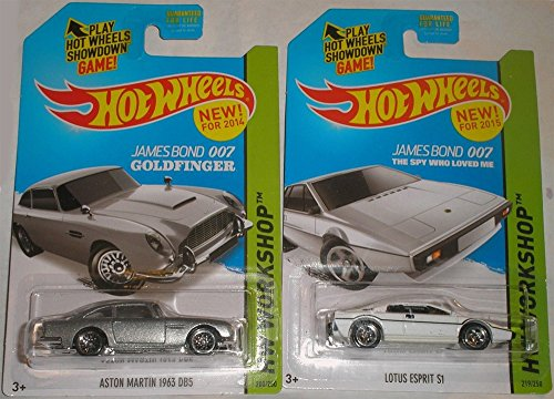 Hot Wheels Hw Workshop James Bond 007 - Lotus Esprit S1 & Aston Martin 1963 DB5 Set of 2 - 1