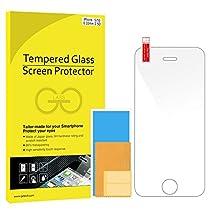 JETech Apple iPhone SE 5 5S 5C Film Protection en Verre trempé écran protecteur ultra résistant Glass Screen Protector pour iPhone 5/5S/5C/SE (Clair)