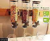 Zevro Indispensable SmartSpace Wall Mount Triple Dry-Food Dispenser WM300
