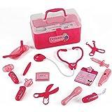 Medical Box Pink Doctor Nurse Medical Kit Playset for Kids - Pretend Play Tools Toy Set