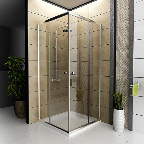 dusche echtglas duschkabine duschabtrennung 80 x 80 x 190 cm modell fugo eckeinstieg. Black Bedroom Furniture Sets. Home Design Ideas