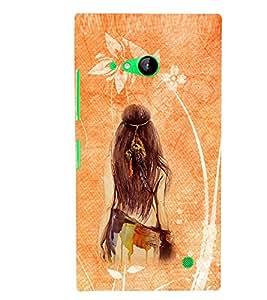 PRINTSWAG GIRL Designer Back Cover Case for NOKIA LUMIA 730