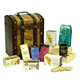 Deluxe Organic Tea, Coffee & Cocoa Vintage Chest Hamper - Luxury Christmas Xmas, Wedding Anniversary Retirement Thank You 18th 21st 30th 40th 50th 60th 70th 80th 90th Birthday Gifts for Her Him Men Women Mum Dad