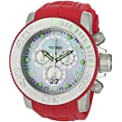 Invicta Men's 0860 Pro Diver Collection Sea Hunter Chronograph Red Polyurethane Watch