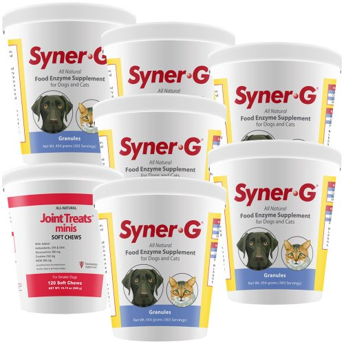 6Pack Synergreg; Digestive Enzymes Granules (2724 Gm) + Free Joint Treats