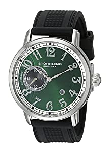 Stuhrling Original Men's 229A2.33165 Classic Legacy de Novo Automatic Date Black Rubber Strap Watch