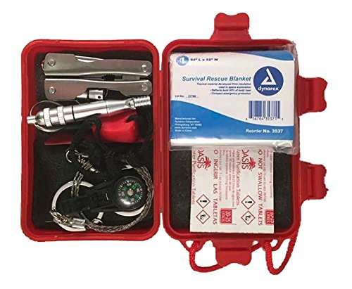 Durability Kits Wilderness Emergency Survival Kit With Water Tablets & Emergency Blanket