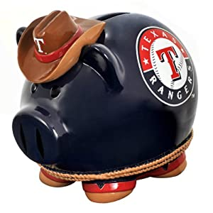 MLB Texas Rangers Resin Large Thematic Piggy Bank by Forever Collectibles