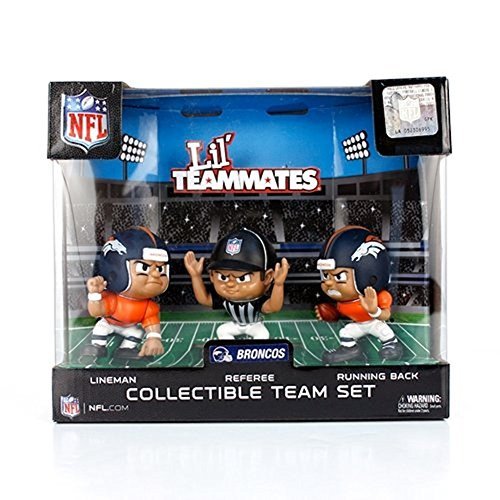 Lil' Teammates 3 Figurine Denver Broncos NFL Team Set (Pack of 3) (Denver Broncos Lil Teammates compare prices)