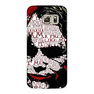 Stylish Mad Typo Multicolor Back Case Cover for Samsung Galaxy S6 Edge